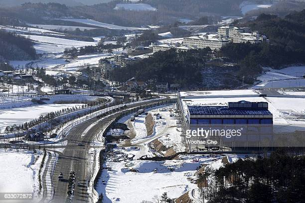 IBC for PyeongChang Winter Olympic 2018 is under construction on December 16 2016 in PyeongChang South Korea