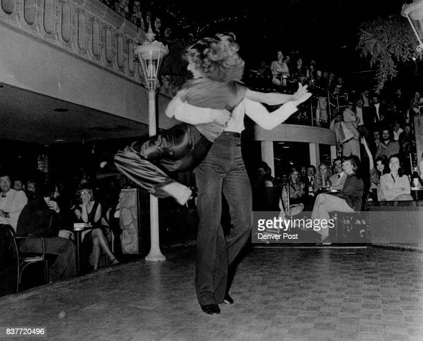 For recent competition at The Dove Mike and Amber did routine with flashy lifts drops that have become necessary to win local disco dance contests...