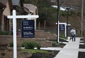 For sale signs are posted in front of a newly built homes on January 27 2015 in Novato California According to a Commerce Department report new home...