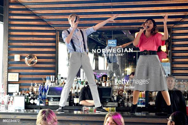 For the RecordThe Brat Pack performs during Norwegian Escape heads to NYC event with Godfather Pitbull at PHD at the Dream Downtown on October 11...