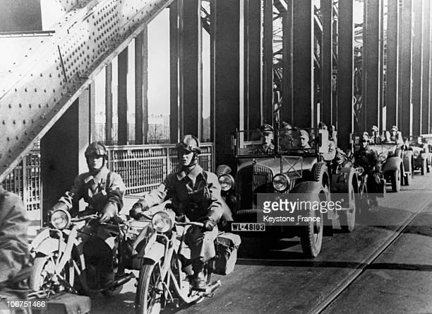 For The Remilitarization Of Rhenanie The German Troops Crossing The Rhin River At Cologne On March 9Th 1936