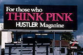 For those who Think Pink Hustler Magazine billboard