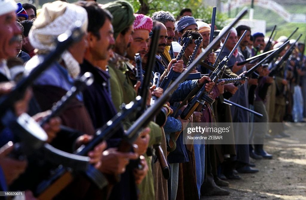 For villagers frightened by the Islamist threat, there are only two issues : arm themselves and face or flee from their homes; it is in this civil war atmosphere that presidential elections will take place in Algeria next month, 1998 in Algeria.