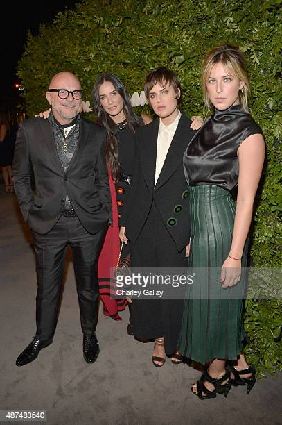 Foral designer Eric Buterbaugh and actors Demi Moore Tallulah Willis and Scout Willis attend as Ferragamo Celebrates 100 Years in Hollywood at the...