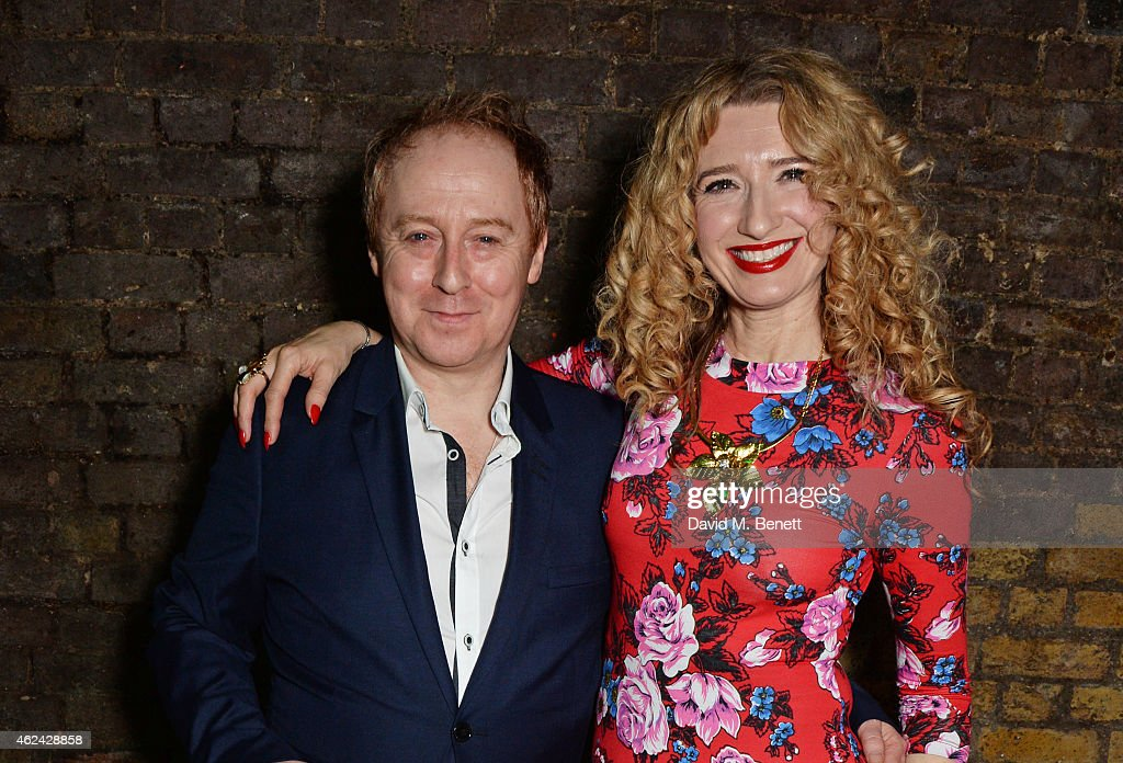 Forbes Masson and Melanie Masson attend an after party following the Gala Performance of 'The Ruling Class' at The Bankside Vaults on January 28 2015...