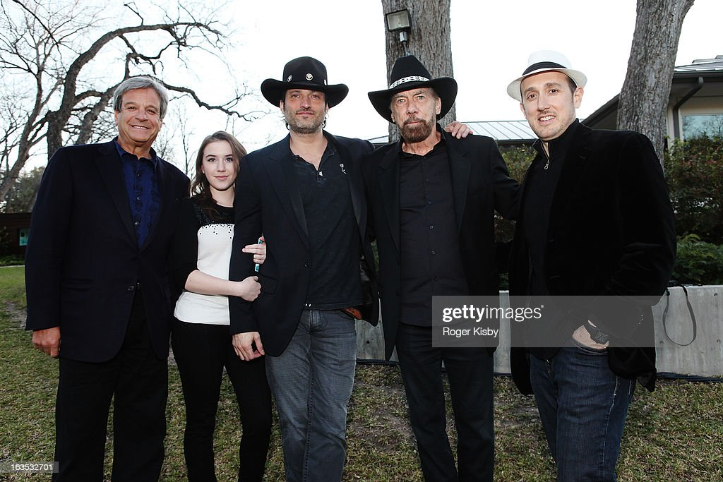 Forbes Media CEO Mike Perlis, Marcie Madison, Robert Rodriguez, John Paul DeJoria, and Forbes Editor Randall Lane attend Forbes' '30 Under 30' SXSW Private Party on March 11, 2013 in Austin, Texas.