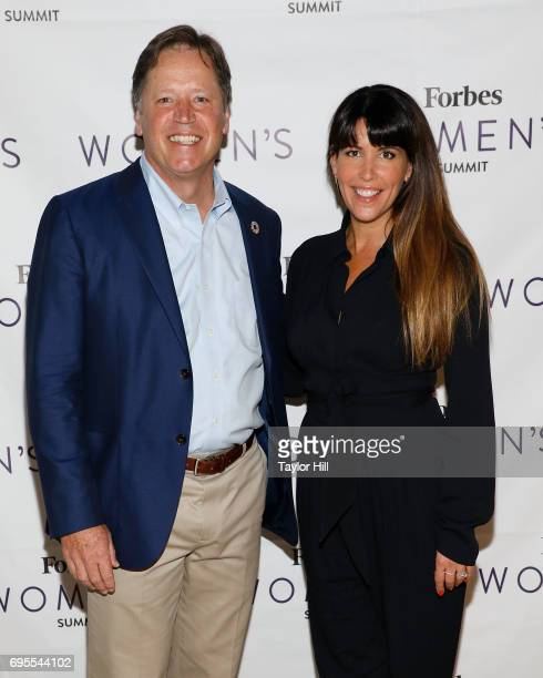 Forbes Media President and COO Mike Federle and Wonder Woman director Patty Jenkins attend the 2017 Forbes Women's Summit at Spring Studios on June...