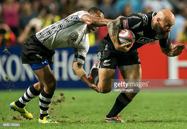 Forbes of New Zealand in action during the Fiji vs New Zealand HSBC Sevens World Series Cup Final match as part of the Hong Kong Sevens the sixth...