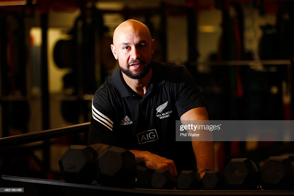 <a gi-track='captionPersonalityLinkClicked' href=/galleries/search?phrase=DJ+Forbes&family=editorial&specificpeople=4217962 ng-click='$event.stopPropagation()'>DJ Forbes</a> of the New Zealand All Black Sevens poses for a portrait following a press conference at Eden Park on August 07 in Auckland, New Zealand. Forbes announced today that he was stepping aside from the captaincy of the team.