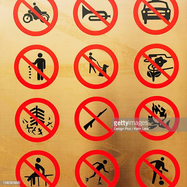 forbidden activity signs in temple of heaven