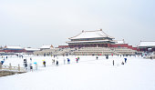 Forbidden City after a heavy snow in Beijing