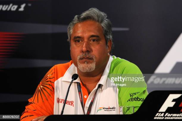 Force India F1 Team Owner Dr Vijay Mallya during the press conference
