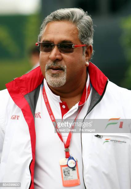 Force India F1 Team Principal Vijay Mallya during the Grand Prix at MagnyCours Nevers France