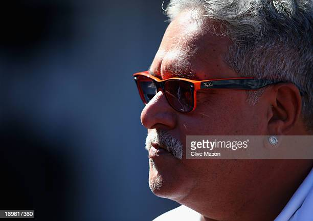Force India owner Vijay Mallya is seen during the Monaco Formula One Grand Prix at the Circuit de Monaco on May 26 2013 in MonteCarlo Monaco