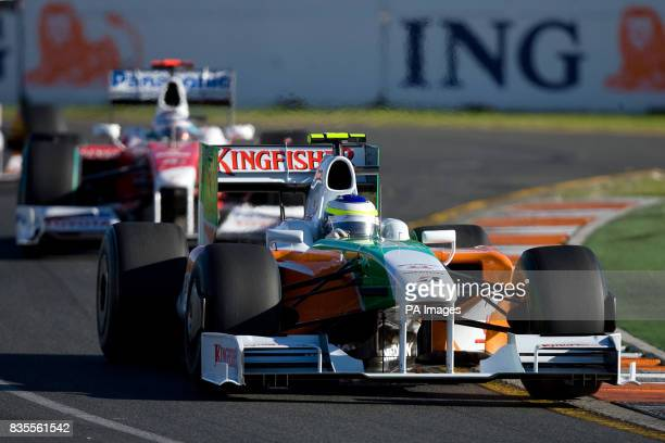 Force India's Giancarlo Fisichella during the Australian Grand Prix at Albert Park Melbourne Australia