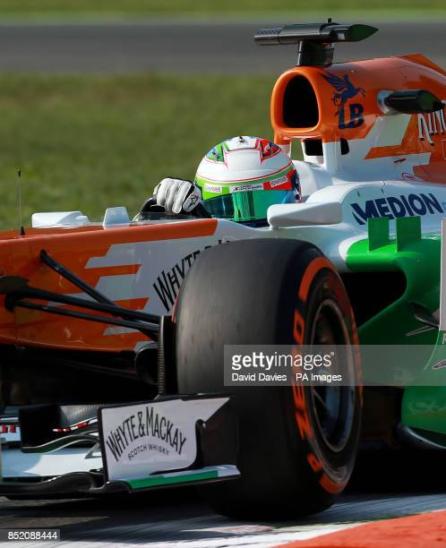 Force India's Paul di Resta during practice day for the 2013 Italian Grand Prix at the Autodromo di Monza in Monza Italy