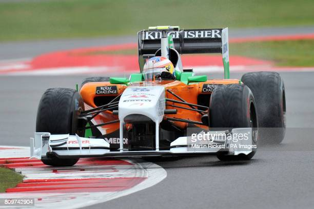 Force India's Paul di Resta during Practice for the Formula One Santander British Grand Prix
