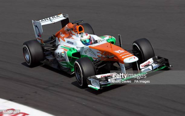 Force India's Paul di Resta during qualifying day for the 2013 Italian Grand Prix at the Autodromo di Monza in Monza Italy
