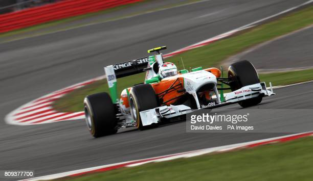 Force India's Paul di Resta during Qualifying day for the Formula One Santander British Grand Prix at Silverstone Circuit Northampton