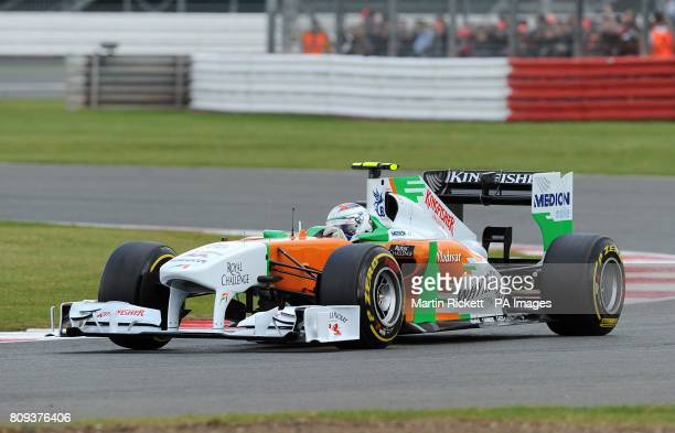 Force India's Paul di Resta during Qualifying for the Santander British Grand Prix at Silverstone Circuit Northampton
