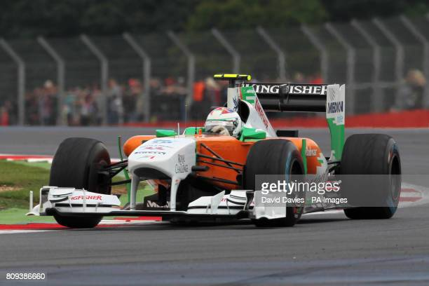 Force India's Paul di Resta during the Santander British Grand Prix at Silverstone Circuit Northamptonshire Sunday July 10 2011