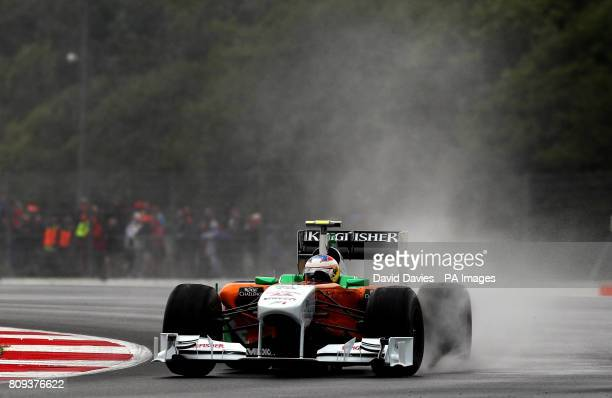 Force India's Paul di Resta of Great Britain during practice during Practice for the Formula One Santander British Grand Prix at Silverstone Circuit...