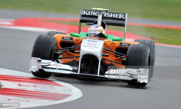 Force India's Paul Di Resta of Great Britain goes around club corner during the second practice session during Practice for the Formula One Santander...