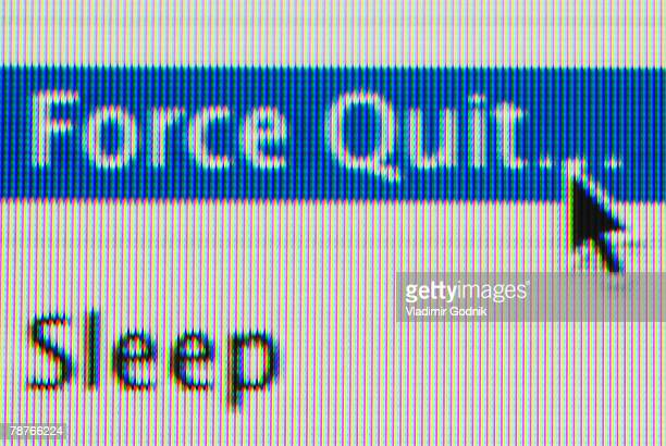 Force Quit and Sleep options on a computer screen