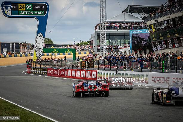 Ford Chip Ganassi Team UK #66 Ford GT with Drivers Olivier Pla Stefan Mucke and Billy Johnson and LMGTE PRO Ford Chip Ganassi Team UK #67 Ford GT...