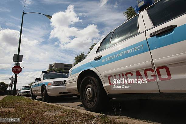 Ford Crown Victorias being used as Chicago police cars sit outside a police station September 8 2011 in Chicago Illinois Last month Ford saw sales of...
