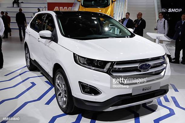 A Ford Edge SUV automobile manufactured by Ford Motor Co sits on display at the IAA Frankfurt Motor Show in Frankfurt Germany on Tuesday Sept 15 2015...