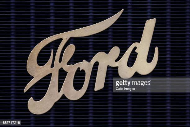 Ford emblem seen during the Oldtimer Warsaw Show 2017 on May 13 2017 in Nadarzyn Poland The exhibition showcases vintage car models