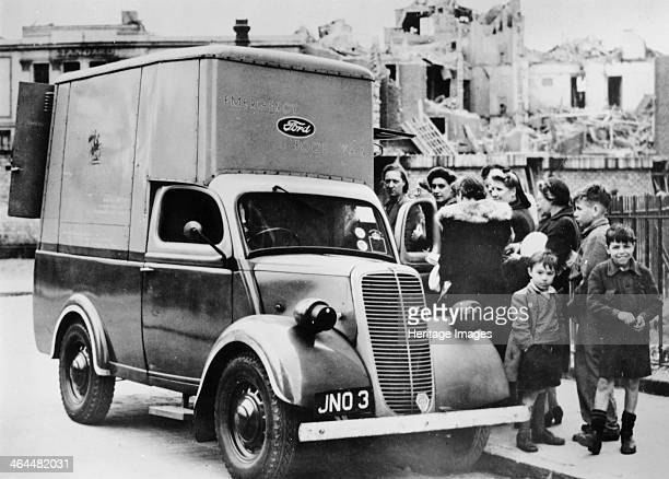 A Ford emergency food van Bethnal Green London c1940c1941 Distributing food to the residents of Bethnal Green during the Blitz