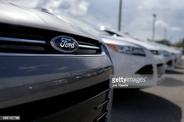 Ford Escape is seen on a dealerships lot on September 26 2014 in Miami Florida Ford Motor Co announced it is recalling about 850000 cars and SUVs...