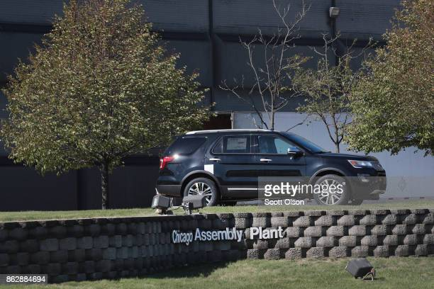 Ford Explorer is displayed outside of Ford's Chicago Assembly Plant on October 18 2017 in Chicago Illinois Responding to consumer concerns about...