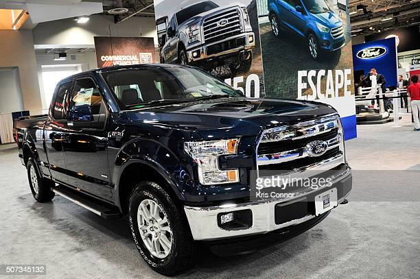 Ford F150 Lariat is on display during the Washington Auto Show at the Washington Auto Show in Washington DC on January 28 2016