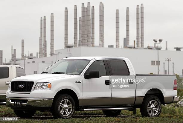 Ford F150 pickup truck sits on display at the Ford Dearborn Truck Assembly Plant September 15 2006 at Ford World Headquarters in Dearborn Michigan...