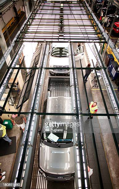 Ford F150 trucks go through Quality Control on the assembly line at Ford's Dearborn Truck Plant September 16 2013 in Dearborn Michigan Ford Motor...