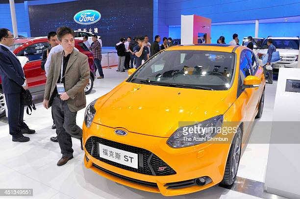 Ford Focus ST is on display during the uring the 11th China International Automobile Exhibition at China Import and Export Fair Complex on November...