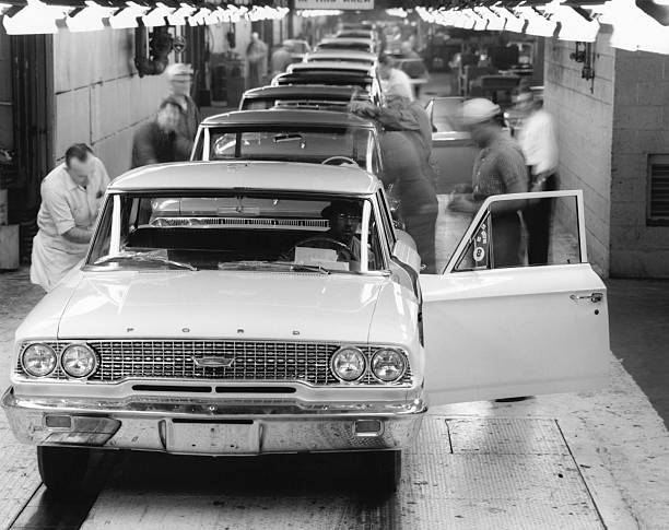 Ford motor assembly plant pictures getty images for Ford motor company wayne mi