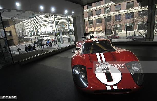 Ford GT 40 is seen on the opening day of the 2016 North American International Auto Show at Cobo Hall on January 16 2016 in Detroit United States
