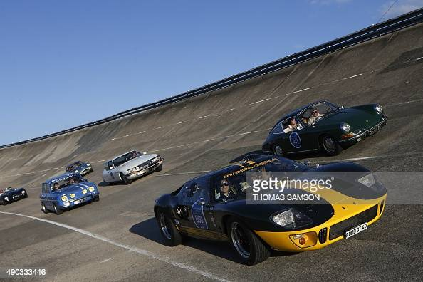 a ford gt40 is driven during the first edition of the 39 les grandes heures de l 39 automobile 39 the. Black Bedroom Furniture Sets. Home Design Ideas