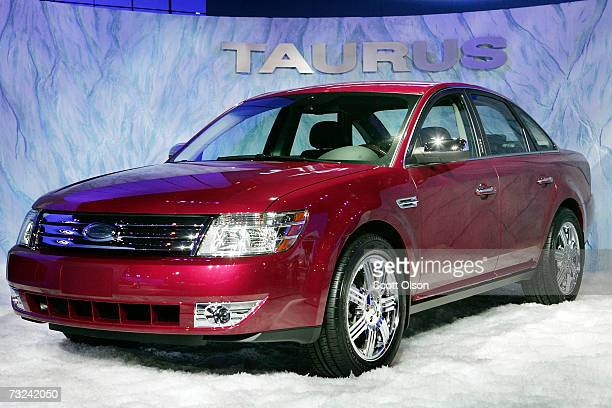 Ford introduces the 2008 Taurus at the Chicago Auto Show at February 7 2007 in Chicago Illinois The Chicago Auto Show the largest auto show in North...