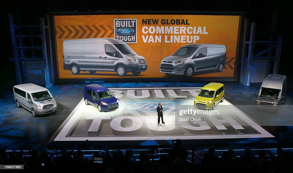 Ford introduces the Transit van which will replace the E-series van at the North American International Auto Show on January 15, 2013 in Detroit, Michigan. The auto show will be open to the public January 19-27.
