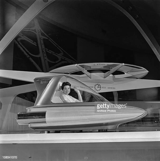 A Ford Mach I Levacar on display at the Ford Rotunda in Dearborn Michigan 1959 A single seat 'flying car' it never went into production