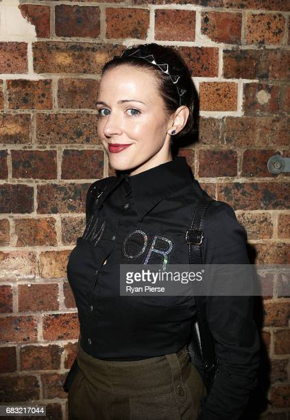 Ford Millinery designer Chantelle Ford arrives at MercedesBenz Fashion Week Resort 18 Collections at Carriageworks on May 15 2017 in Sydney Australia