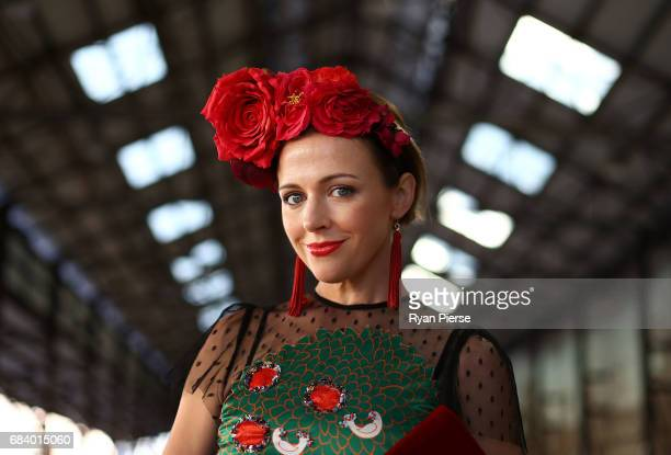 Ford Millinery designer Chantelle Ford arrives at MercedesBenz Fashion Week Resort 18 Collections at Carriageworks on May 17 2017 in Sydney Australia