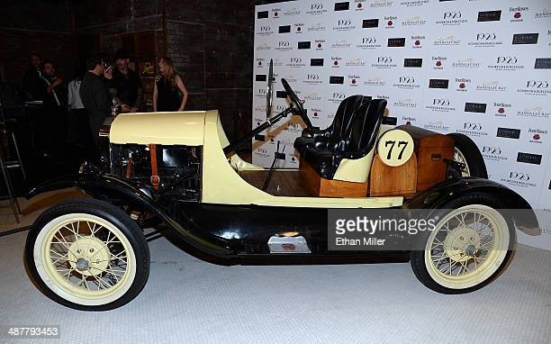 Ford Model T racing car is displayed during grand opening of 1923 Bourbon Burlesque by Holly Madison at the Mandalay Bay Resort and Casino on May 1...