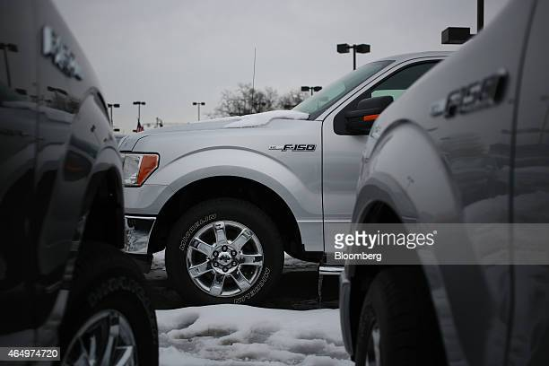 Ford Motor Co F150 trucks are displayed for sale at the Oxmoor Ford car dealership in Louisville Kentucky US on Wednesday Feb 25 2015 Domestic and...