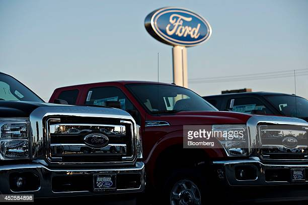 Truck logos stock photos and pictures getty images for Ford motor company dealerships